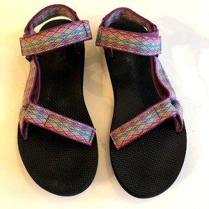 TEVA Original Universal Womens Sandals Purple SZ 9